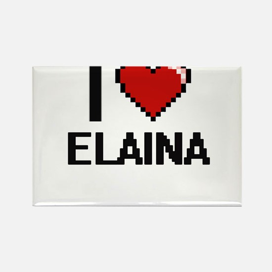 I Love Elaina Digital Retro Design Magnets