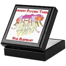 Ancient Psychic Tandem War Elephant Keepsake Box