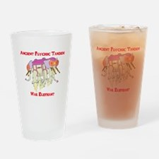 Ancient Psychic Tandem War Elephant Drinking Glass