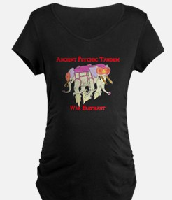 Ancient Psychic Tandem War Elephant Maternity T-Sh
