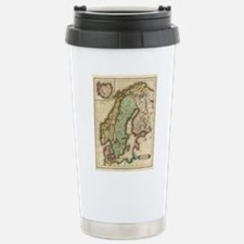Vintage Map of Norway a Travel Mug
