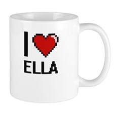 I Love Ella Digital Retro Design Mugs