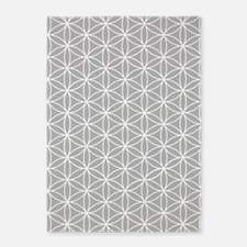 Flower Of Life Big Ptn Wt/grey 5'x7'area R