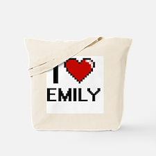 I Love Emily Digital Retro Design Tote Bag