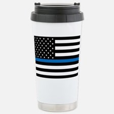 Blue Line Stainless Steel Travel Mug