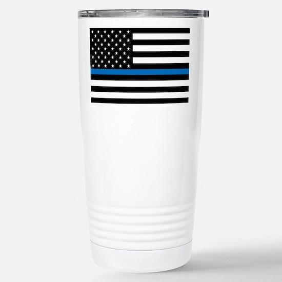 Blue Line Stainless Steel Travel Mug