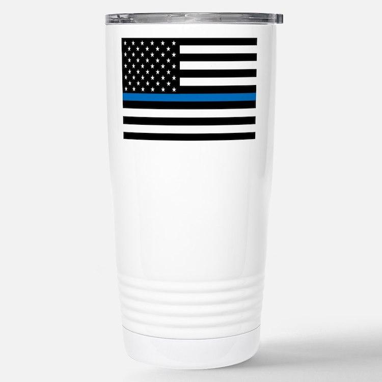 Blue Line Travel Mug