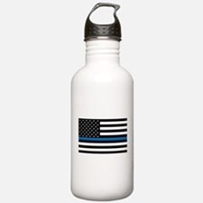 Blue Line Water Bottle