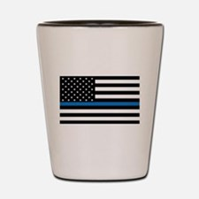 Blue Line Shot Glass