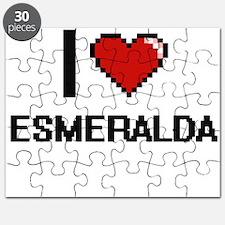 I Love Esmeralda Digital Retro Design Puzzle
