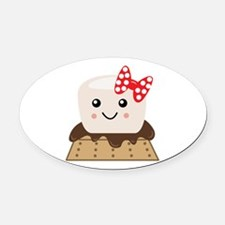 Smore Oval Car Magnet