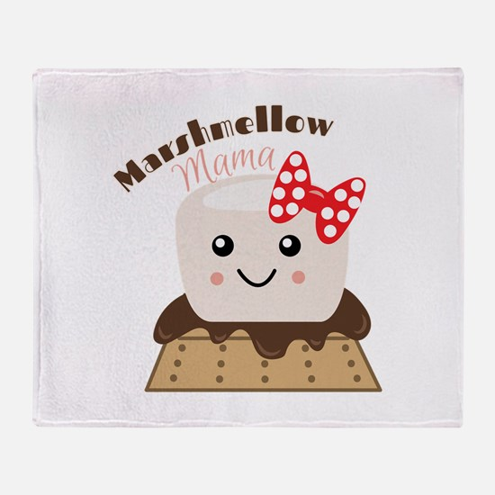 Marshmellow Mama Throw Blanket