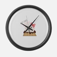 Ooey Gooey Goodness Large Wall Clock