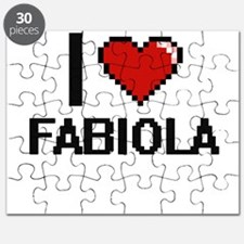 I Love Fabiola Digital Retro Design Puzzle