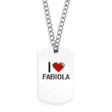 I Love Fabiola Digital Retro Design Dog Tags
