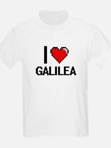 I Love Galilea Digital Retro Design T-Shirt