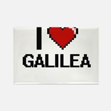I Love Galilea Digital Retro Design Magnets