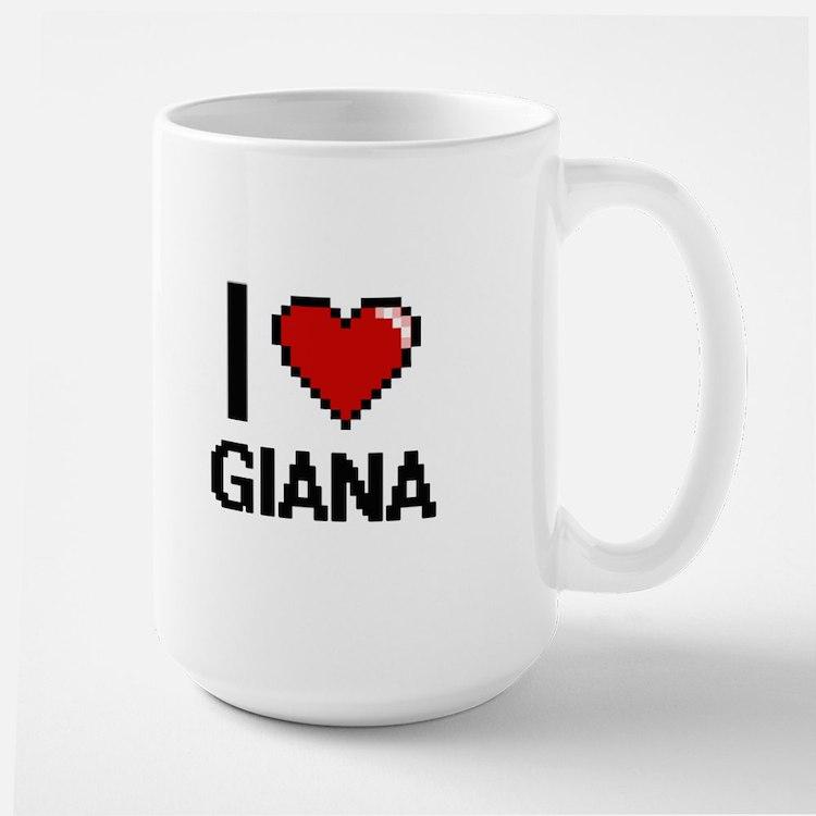 I Love Giana Digital Retro Design Mugs