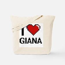 I Love Giana Digital Retro Design Tote Bag