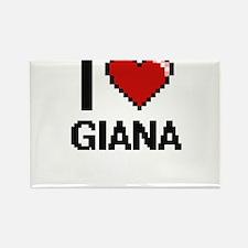 I Love Giana Digital Retro Design Magnets