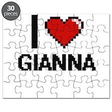 I Love Gianna Digital Retro Design Puzzle