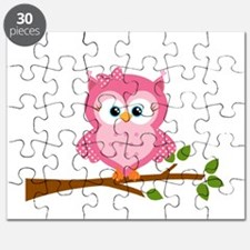Pink Owl on a Branch Puzzle