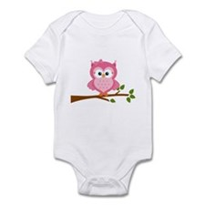 Pink Owl on a Branch Body Suit
