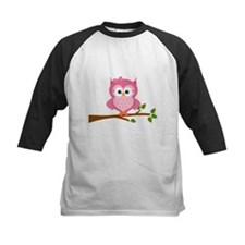 Pink Owl on a Branch Baseball Jersey