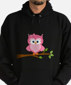 Pink Owl on a Branch Hoody
