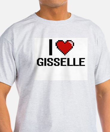 I Love Gisselle Digital Retro Design T-Shirt