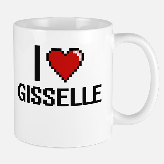 I Love Gisselle Digital Retro Design Mugs