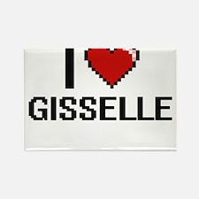 I Love Gisselle Digital Retro Design Magnets