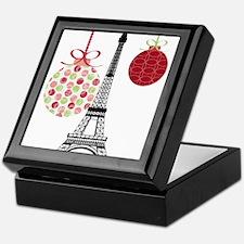 Merry Christmas Eiffel Tower Ornaments Keepsake Bo