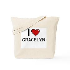 I Love Gracelyn Digital Retro Design Tote Bag