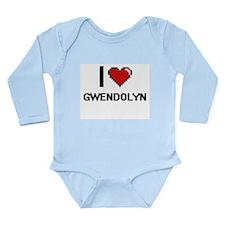 I Love Gwendolyn Digital Retro Design Body Suit