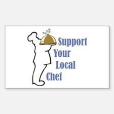 Local Chef Rectangle Decal