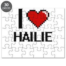 I Love Hailie Digital Retro Design Puzzle