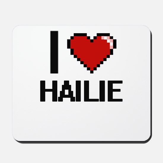I Love Hailie Digital Retro Design Mousepad