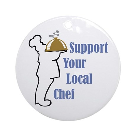 Local Chef Ornament (Round)