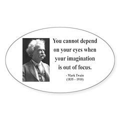 Mark Twain 13 Oval Decal