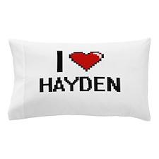 I Love Hayden Digital Retro Design Pillow Case