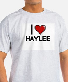 I Love Haylee Digital Retro Design T-Shirt