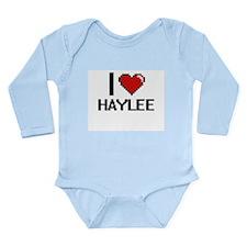 I Love Haylee Digital Retro Design Body Suit