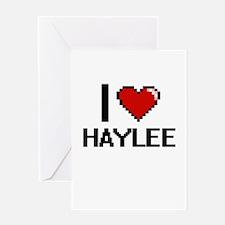I Love Haylee Digital Retro Design Greeting Cards