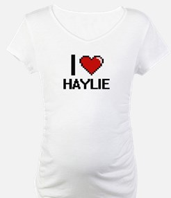 I Love Haylie Digital Retro Desi Shirt