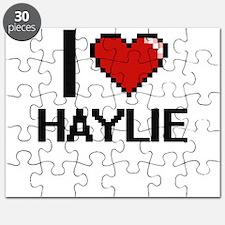 I Love Haylie Digital Retro Design Puzzle