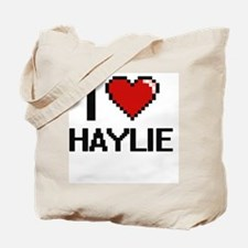 I Love Haylie Digital Retro Design Tote Bag