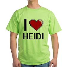 I Love Heidi Digital Retro Design T-Shirt