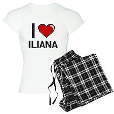 I Love Iliana Digital Retro Pajamas