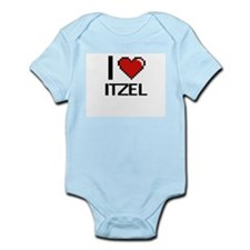 I Love Itzel Digital Retro Design Body Suit